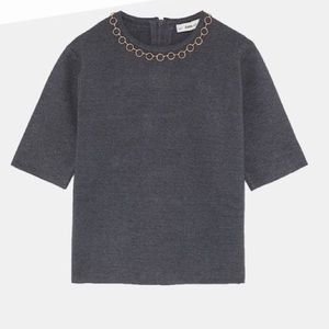 ❤️ ZARA knit top with chain details